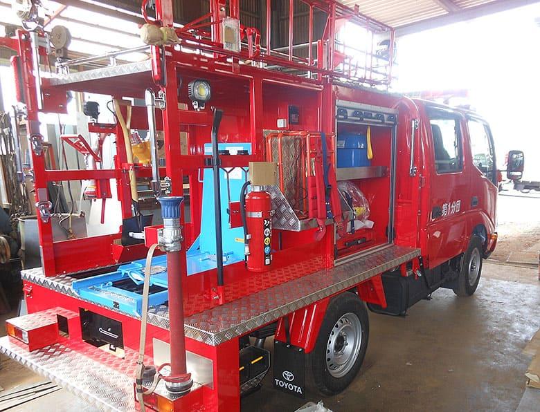 消防ポンプ積載車艤装
